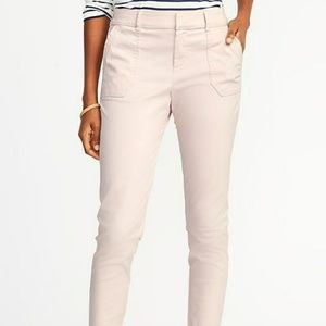 Old Navy Mid-Rise Utility Pixie Chinos Pink